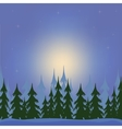 Night in wood vector image