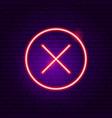 no button neon sign vector image vector image