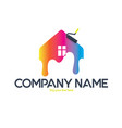 painting house logo vector image vector image