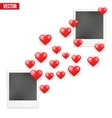 Photo frame Lovers with valentines hearts sent vector image vector image