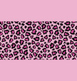 pink and black leopard skin fur print pattern vector image