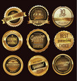 premium quality golden badges vector image vector image
