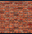 Red brick wall seamless background vector image vector image