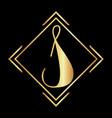 s letter logo s golden color logo s logo vector image vector image