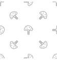 salad broccoli pattern seamless vector image