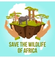 save wildlife africa concept vector image