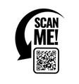 scan me icon symbol or emblem vector image