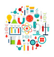 science laboratory icons circle vector image vector image