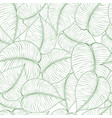 seamless green leaf pattern vector image vector image