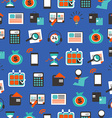 Seamless pattern with accountancy equipment vector image vector image