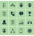 set of 16 hr icons includes business deal vector image vector image