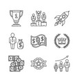 set of business icons and concepts in sketch style vector image