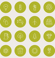 Set of Thin Line Ecology and Environment Icons vector image
