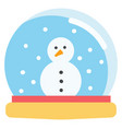 simple on white background a snow globe with a vector image
