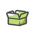 small paper box icon cartoon vector image