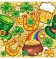 St Patrick's day seamless vector image