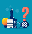 standing and getting answers to asked questions vector image vector image