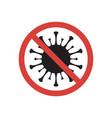 stop covid-19 sign corona virus symbol vector image vector image