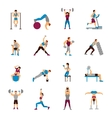 Strength Training Workout Set vector image vector image