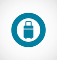 travel bag icon bold blue circle border vector image