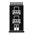 two floor house icon simple style vector image
