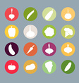 Vegetables silhouette icons Set Carrots an vector image vector image