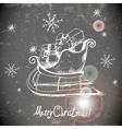 Vintage greeting card with Christmas sleigh vector image vector image