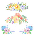 watercolor floral decor for cards and invitations vector image vector image