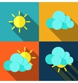 Weather icons in flat style vector image vector image