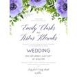 wedding floral invite save date card design vector image