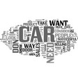 what your car says about your sales career text vector image vector image