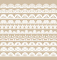 White Lace Border set vector image