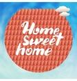 Calligraphic phrase Home sweet vector image