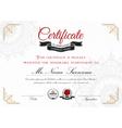 Certificate template design vector image