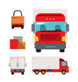 trucking flat style colorful cartoon vector image