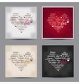 set of Valentine day typography design words vector image