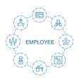 8 employee icons vector image vector image