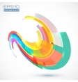 Abstract colorful curve vector image vector image