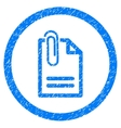 Attach Document Rounded Icon Rubber Stamp vector image vector image