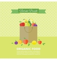 banner card with fresh fruits and berries vector image vector image