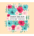 Beautiful Spring design for apparel vector image vector image