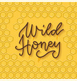 bee honey typographic design linear trendy vector image