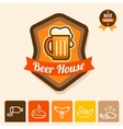 beer house emblem vector image