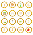 beer icon circle vector image
