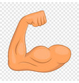 biceps hands icon cartoon style vector image vector image