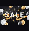 black friday sale ads celebration banner template vector image vector image