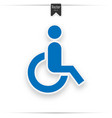 blue square handicapped sign with wheelchair vector image vector image