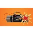 bomb dynamite explosion vector image vector image