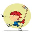 Boy Playing Hockey vector image