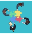 Business People team with gadgets and devices with vector image vector image